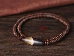 平民版的文玩--海南文昌椰壳手串