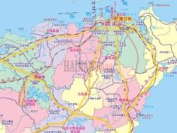 海南岛内的区位路网